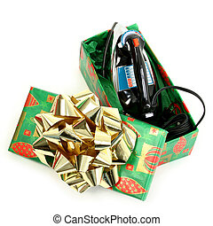 Practical Christmas - Classic black and silver electric iron...