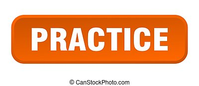 practice button. practice square 3d push button