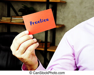 Practice    sign on the sheet.