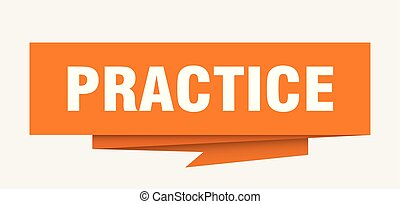 practice sign. practice paper origami speech bubble....