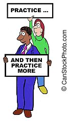 Practice - Business cartoon about the importance of...