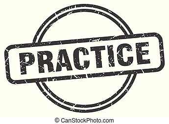 practice vintage stamp. practice sign