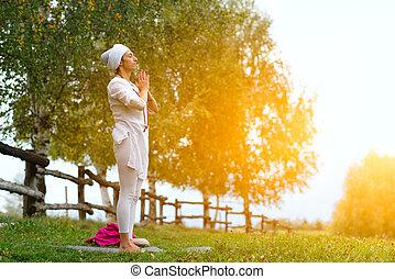 Practice yoga in nature