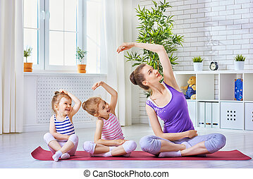 practice yoga - beautiful girl is engaged in yoga