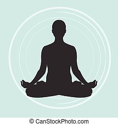 Practicing yoga, meditating
