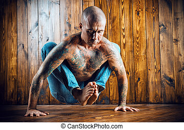 practicing, yoga