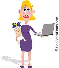 pracująca mamusia