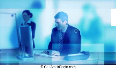 pracujące biuro, biznesmen