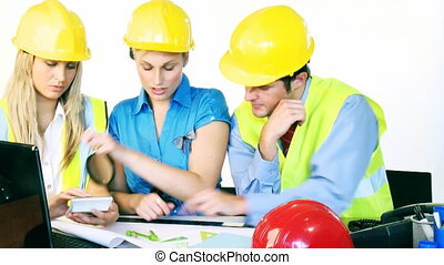 pracujące plany, biuro, architekci