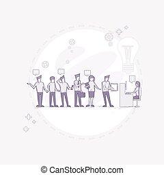 pracujący, grupa, handlowe biuro, posiedzenie, biurko, ludzie, businesspeople, twórczy, drużyna