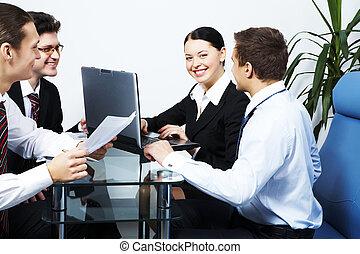 pracujący, spotkanie