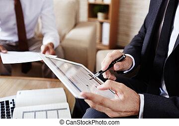 pracujący, tabliczka, cyfrowy