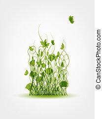 pradera verde, plano de fondo, para, su, diseño