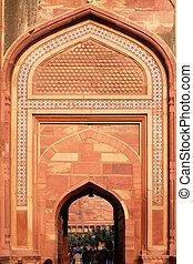pradesh, 城砦, uttar, amar, singh, インド, 門, agra