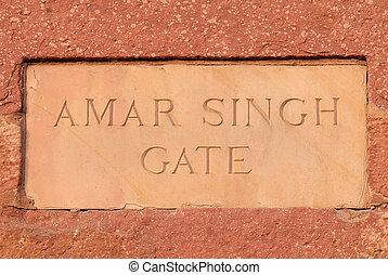 pradesh, 門, 城砦, singh, インド, uttar, amar, agra