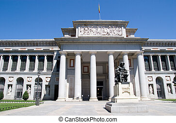 Prado Museum - Famous Prado Museum in Madrid, Spain.
