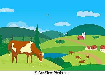 prado, vaca