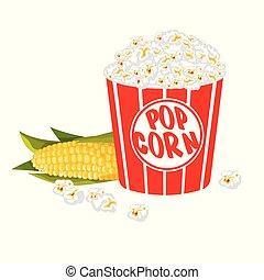 praená kukuřice, neposkvrněný, bečka, íhaný background