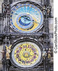 Praga,  cityhall, relógio