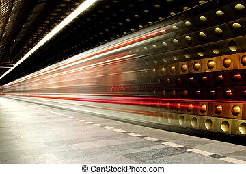 praga, metro, plano de fondo