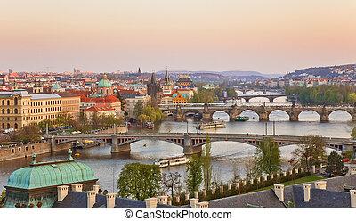 Praga, tramonto