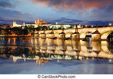 praga zamek, republika czeska, hradcany