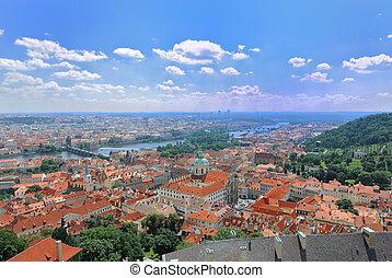 Prague Aerial view