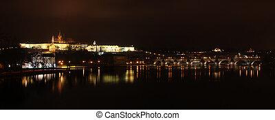 Prague after sunset
