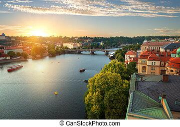 Prague and River Vltava
