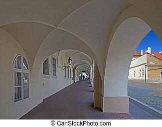 Prague - Arcade by Loreta Square in Hradcany