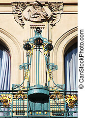 Prague Art Nouveau in wrought iron