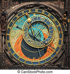 Prague astronomical clock - Old astronomical clock in the...