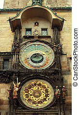 Prague Astronomical Clock (Orloj) in the Old Town Square...