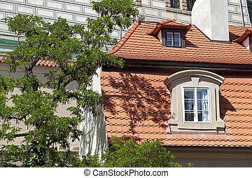 Prague - Baroque building in Neruda Street, Hradcany