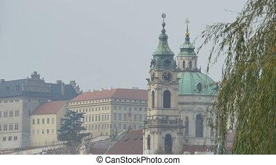 Prague Baroque Church View. - View of a baroque church on...