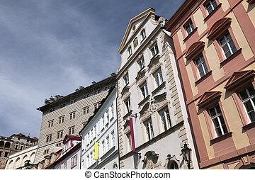 Prague - Baroque houses in Neruda Street in Lesser Town (...