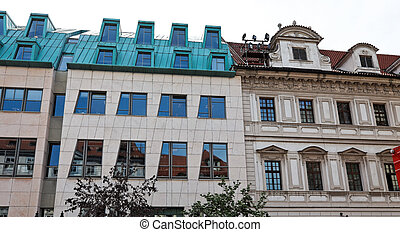 Prague, beautifully renovated houses n the Old Town - ...