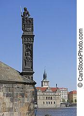 Prague - Bruncvik Statue on Charles Bridge