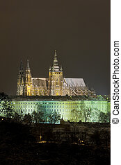 Prague Castle at night, Czech Republic