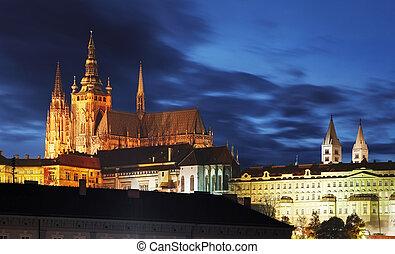 Prague Castle at twilight - Czech republic