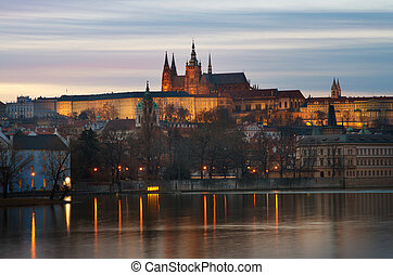 Prague Castle, view from the Vltava river