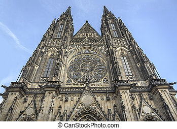 Prague cathedral, Czech Republic. - Cathedral of Saints...