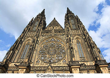 Prague cathedral - Famous St. Vitus cathedral in Hradcany...