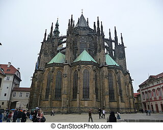 prague cathedral - St Vitus cathedral impressive place of...