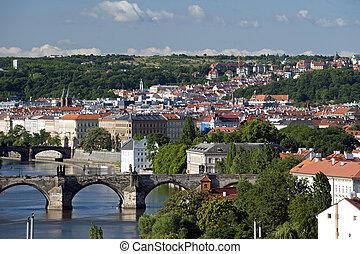 Prague - Charles Bridge and Smichov quarter
