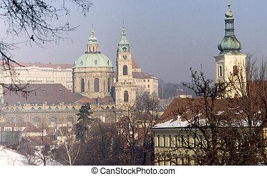 Prague church tower