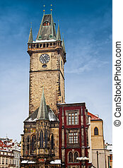 Prague city hall on Old Town square