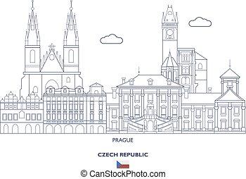 Prague City Skyline, Czech Republic