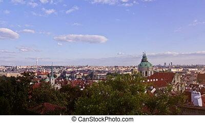 Prague City, Time Lapse.