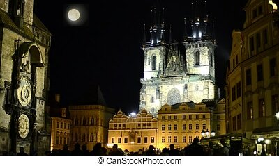 prague cityscape - Prague, Church of Our Lady before Tyn